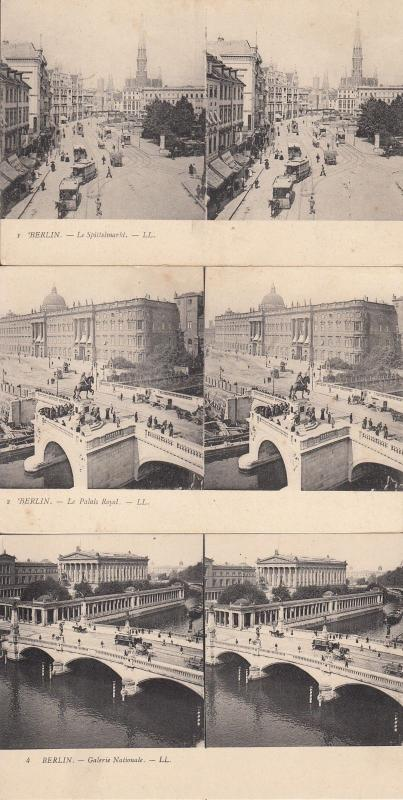 Lot 6 early stereo  stereographic views all GERMANY Berlin Hamburg