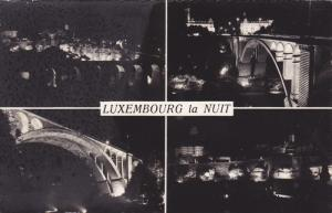 RP; 4-Views of LUXEMBOURG la Nuit, 1950s