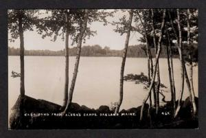 ME East Pond Aldens Camp OAKLAND MAINE Real Photo RPPC Postcard