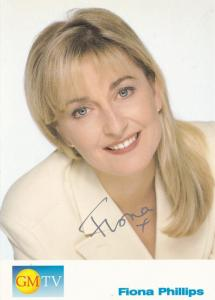Fiona Phillips TV AM Good Morning Britain Hand Signed Cast Card Photo