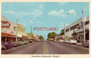 DOWNTOWN GAINESVILLE, FLORIDA intersection of Highways 20-24-26-329 CIRCA 1960