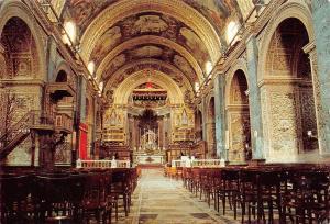Malta The Interior of St John's Co-Cathedral Valletta