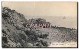 Old Postcard The Cliffs Havre