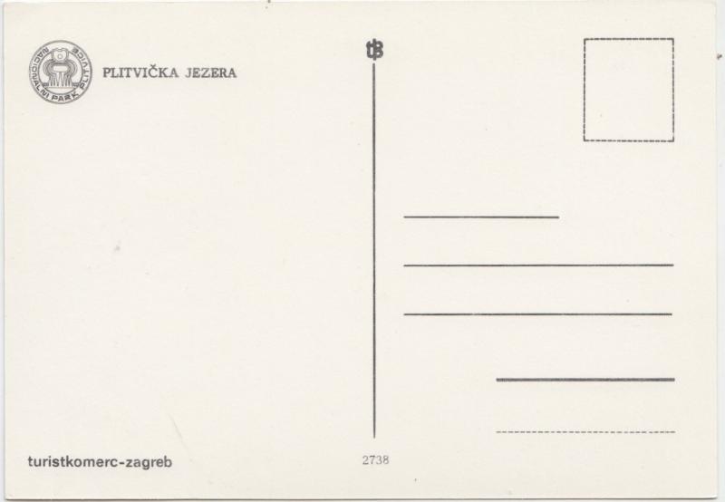 PLITVICKA JEZERA, Croatia, unused Postcard