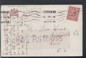Family History Postcard - Hine or Hinc - 37 Fairfield Road, Bow, London RF4515