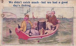 Humour Men In Boat Drinking We Didn't Catch Much But We Had A Good Day's Fish...