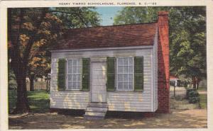 Henry Timrod Schoolhouse, Florence, South Carolina, 30-40s