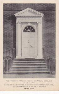 Front Door, The Hammond, Harwood House,  Annapolis, Maryland, 00-10s