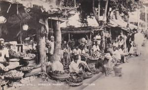 RP: Vegetable Stall , Borella Market , COLOMBO , Ceylon , 20-30s
