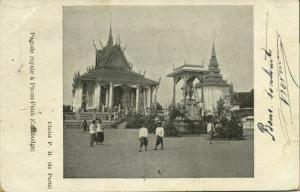 indochina, Cambodia, PHNOM PENH, Pagode Royale (1907) Postcard