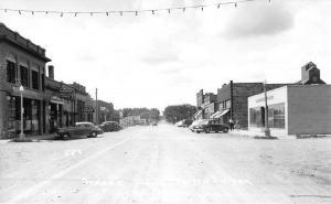 Hatton North Dakota Street Scene Real Photo Antique Postcard K51991