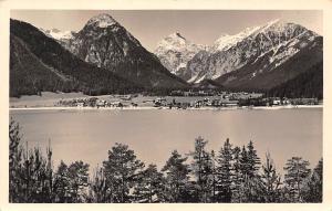 Aachensee Tirol Lake Mountains General view Panorama
