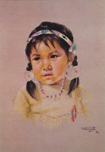 Prairie Sparrow , Indian Child , Canada , 50-60s