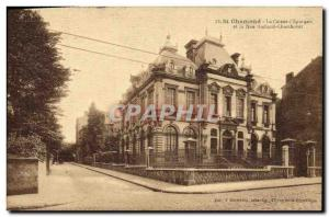 Old Postcard Bank Caisse d & # 39Epargne and rue Richard Chambovet St Chamond