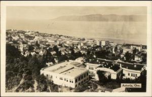 Astoria OR Birdseye View Real Photo Postcard
