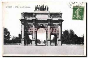 Old Postcard Paris Arc Tuileries
