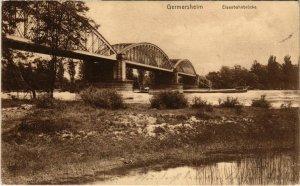 CPA AK Germersheim- Eisenbahnbrucke GERMANY (1023211)