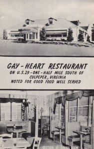 CULPEPPER , Virginia, 1950-60s ; Gay-Heart Restaurant