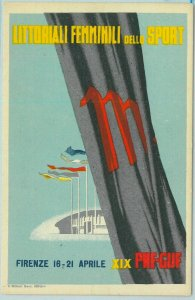 Lib7494 - CARTOLINA d'Epoca  Illustrata - LITTORALI Femminili SPORT Firenze 1941