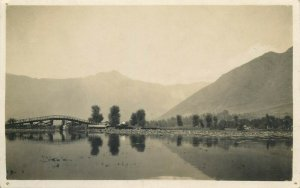 Pakistan Rawalpindi a bit of Pindi bridge real photo postcard