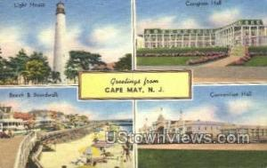Greetings From  Cape May NJ 1954