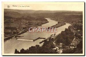 Old Postcard Namur L & # 39Ile Vas t & # 39Y Rubs