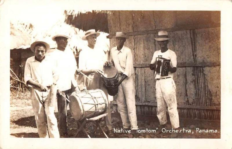 Panama Native Tomtom Orchestra Postal Used Real Photo Antique Postcard J79457