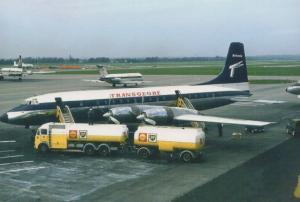Transglobe Britannia G-Atle in 1966 Gatwick Airport Limited Edition 300 Postcard