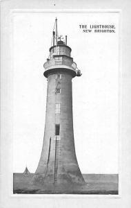 New Brighton, The Lighthouse, Phare, Boat, embossed