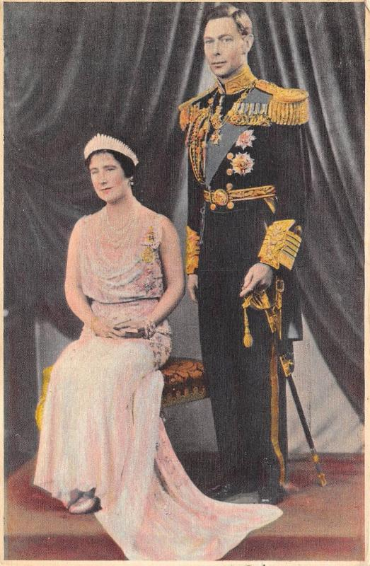 King George VI & Queen Elizabeth 1939 Royalty Postcard King Queen England