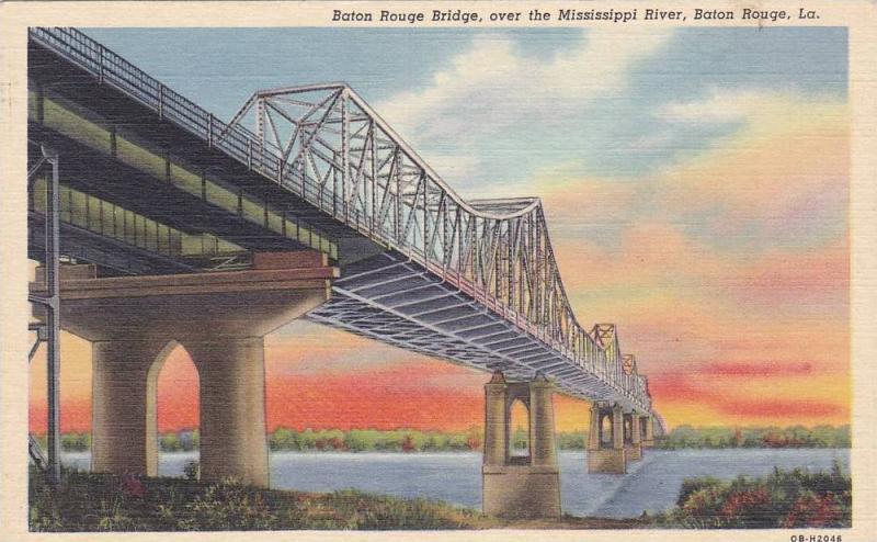 Baton Rouge Bridge, over Mississippi River, Baton Rouge, Louisiana, 30-40s