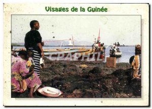 Postcard Modern Faces of Guinea