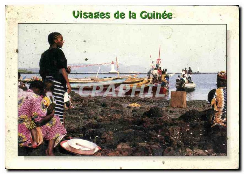 Postcard Modern Faces of Guinea