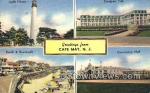 Greetings From  Cape May NJ 1955