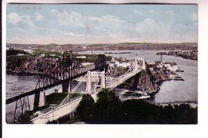 Railway and Auto Bridges, St John, New Brunswick, Valentine & Sons Red Print ...