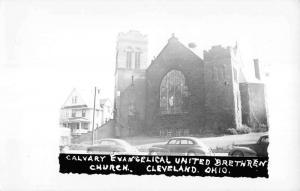 Cleveland Ohio Calvary Evangelical Church Real Photo Antique Postcard K15798