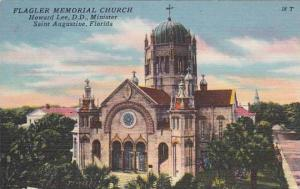 Florida Saint Augustine Flagler Memorial Church Howard Lee D D Minister