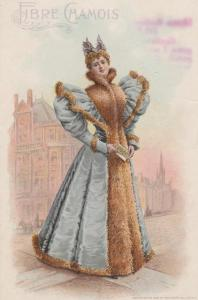 Trade - Advertisement - Lady in Fibre Chamois Gown - Beecher of Pottstown PA