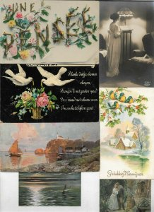 Mixed Postcard - Theme Flowers Art and more with RPPC Postcard Lot of 38 01.08
