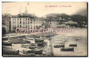 Postcard Menton Old Lower Town