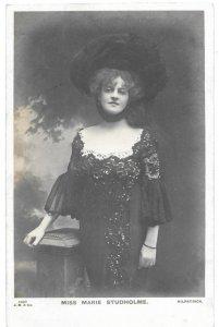 Actress Marie Studholme mailed Photo Post Card 1904 Birmingham to Aberysupryth