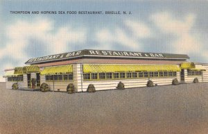 Brielle New Jersey Thompson and Hopkins Seafood Restaurant Postcard AA33184