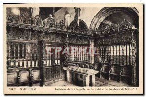 Postcard Old St Herbot inside the Jube Chapel and the Tomb of St Herbot