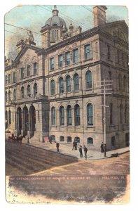 Post Office, Halifax, Nova Scotia, Used 1907