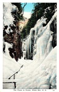 New Hampshire White Mountains The Flume In Winter
