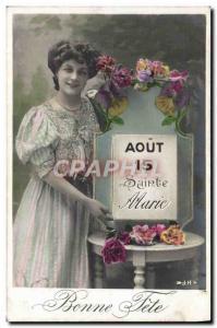 Old Postcard Fantaisie Marie Surname