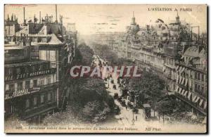 Paris - 2 - Boulevard of the Italians - Airplane flying in perspective - L & ...