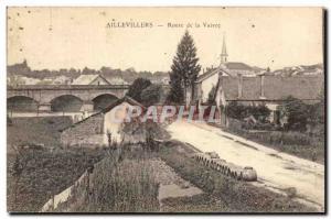 Aillevilers - Road Vaivre - Old Postcard
