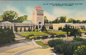 California San Francisco De Young Memorial Museum Golden Gate Park