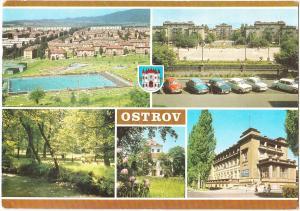 Czech Republic, OSTROV, used Postcard